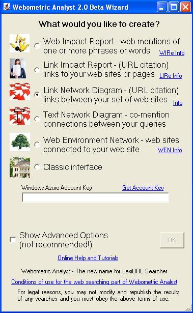 Webometric Analyst - Use