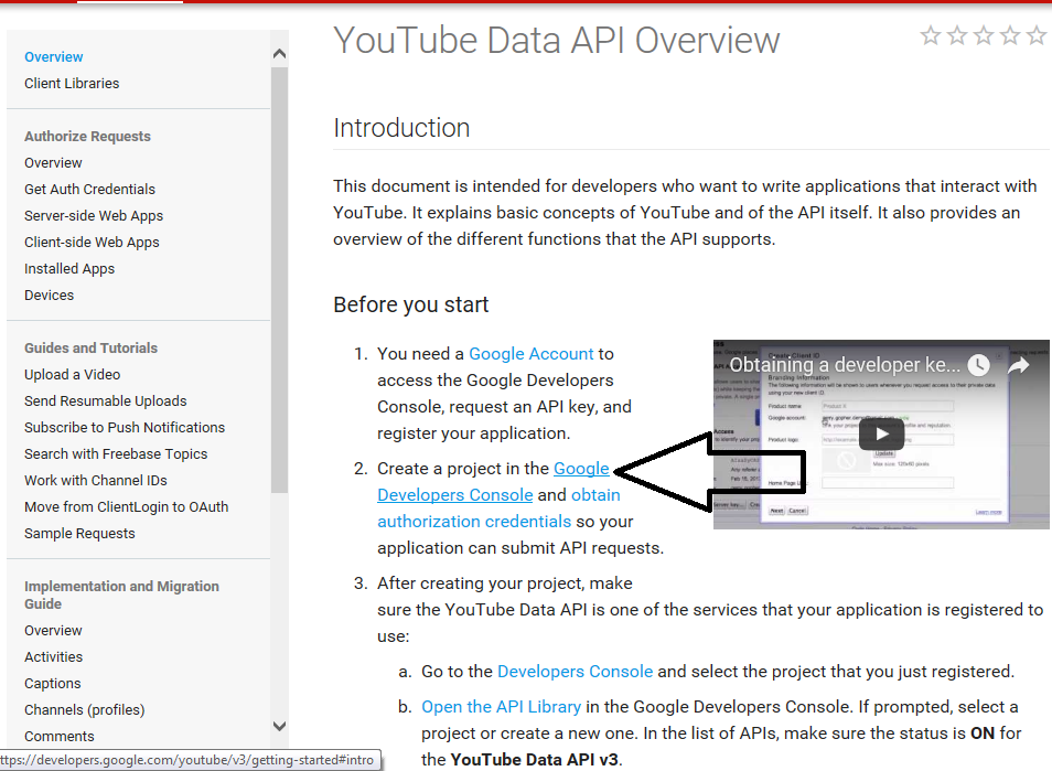 Webometric Analyst - Getting YouTube key